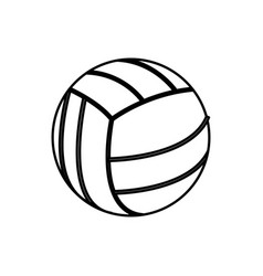 volleyball ball sport play equipment line vector image vector image