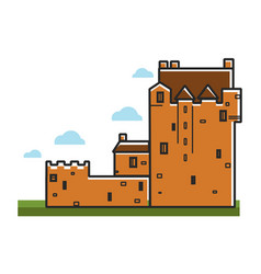 ancient castle scotland travel tourism landmark vector image vector image