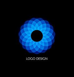 blue logo design template color circular shape vector image vector image