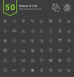 Nature and Life Thin Icon Set vector image vector image