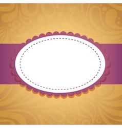 Vintage floral invitation postcard vector image
