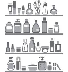 beauty and care silhouettes vector image