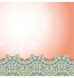 Border with abstract hand-drawn pattern vector