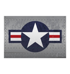 Military aircraft roundel insignia distressed vector