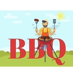 BBQ cooking party vector image vector image