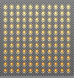 bulbs gradient background vector image