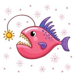 Cartoon angler fish vector image