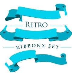 Retro ribbons set vector image
