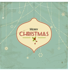 vintage christmas background2 vector image vector image