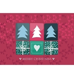 Xmas Seasonal Card vector image vector image