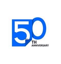 50 th anniversary celebration your company vector