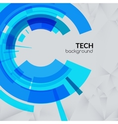 Abstract blue technical triangle background vector