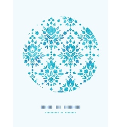 Abstract Flower Damask Circle Decor Pattern vector image