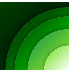 Abstract green paper circles background vector image