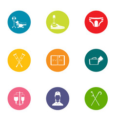 attending physician icons set flat style vector image