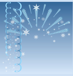 Blue christmas with firework vector