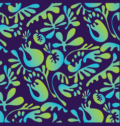 bright exotic flowers with fairytale shapes vector image