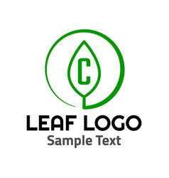c leaf logo symbol icon sign vector image
