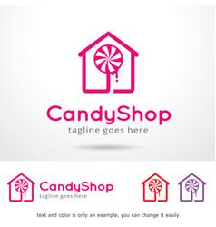 Candy logo template vector