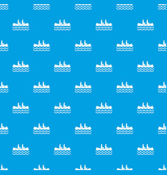 Canoeing pattern seamless blue vector