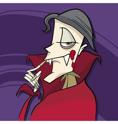 cartoon of funny vampire vector image
