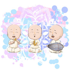 Cartoon vaisnava devotees vector