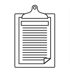 Check paper tax icon outline style vector