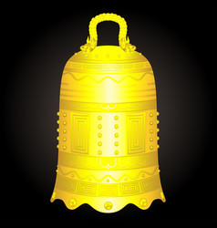 Chinese golden bell artifact vector