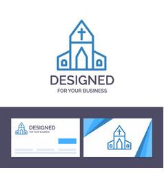 Creative business card and logo template church vector