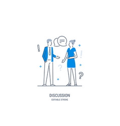 discussion conversation a man and a woman vector image