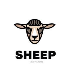 Drawing head of sheep vector