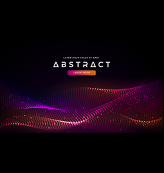 dynamic abstract liquid flow particles background vector image