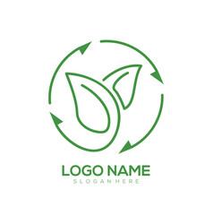 environment logo and icon design vector image