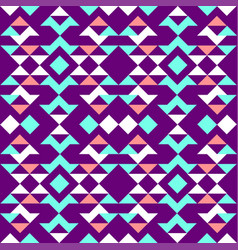 ethnic pattern of triangles vector image
