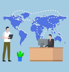 Export or import logistics worldwide map vector