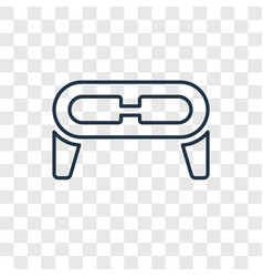 eye protector concept linear icon isolated on vector image