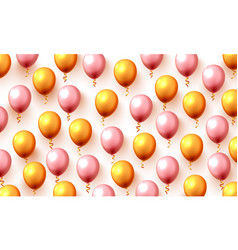 festive color gold balloon party background vector image