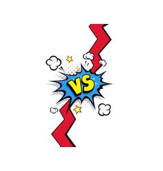 fight backgrounds comics style design vs versus vector image