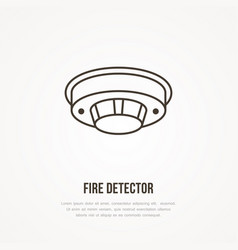 Fire detector sign firefighting safety equipment vector