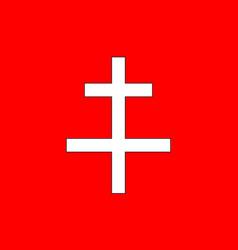 Flag of saint-omer in pas-de-calais of vector