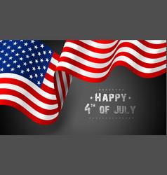 Flag united states america vector
