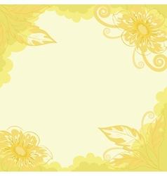 floral background dahlia vector image