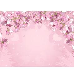 Flowered background vector