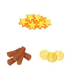 Food and crunchy logo vector
