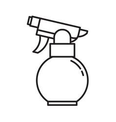 garden water sprayer icon in line art vector image