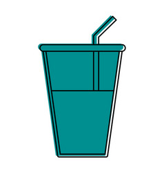 Glass cup with water icon image vector