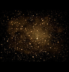 gold glitter particles background vector image