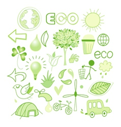 graphics and icons ecology vector image vector image