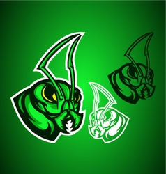 Grasshopper green logo vector