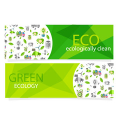 green ecological equipment set for human usage vector image vector image